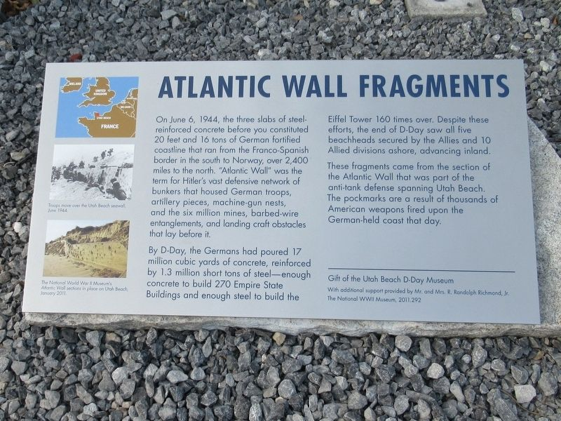 Atlantic Wall Fragments Marker image. Click for full size.