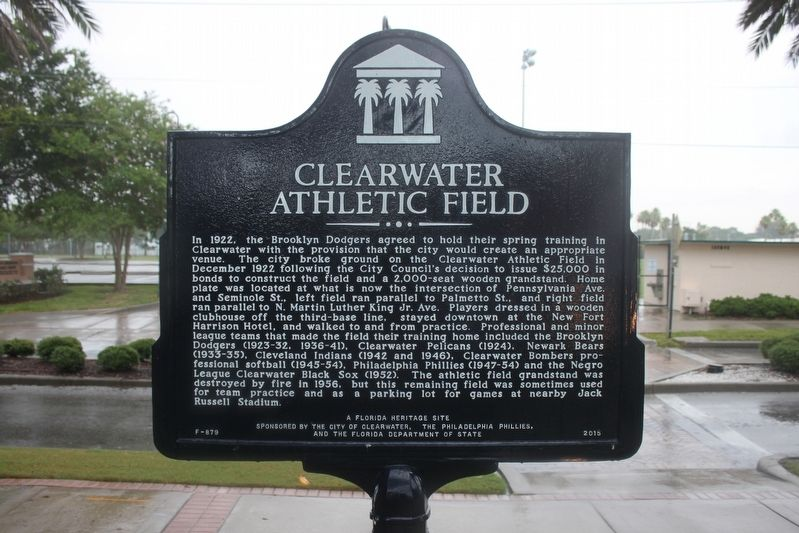 Clearwater Athletic Field Marker image. Click for full size.