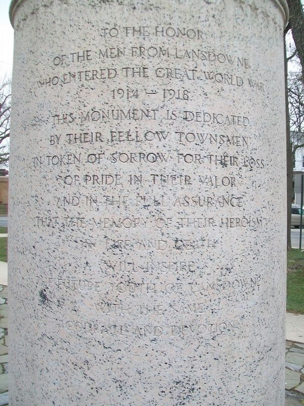 Lansdowne World War Monument Dedication image. Click for full size.