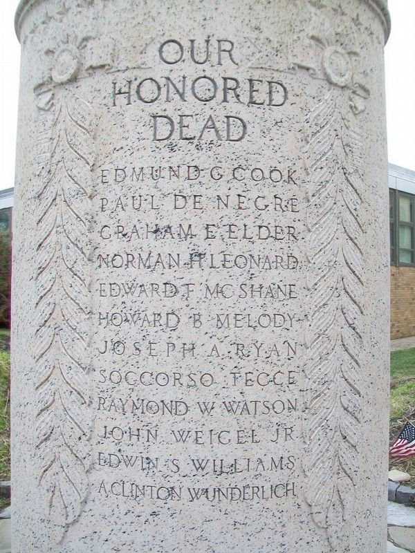 Lansdowne World War Monument<br>Honored Dead image. Click for full size.