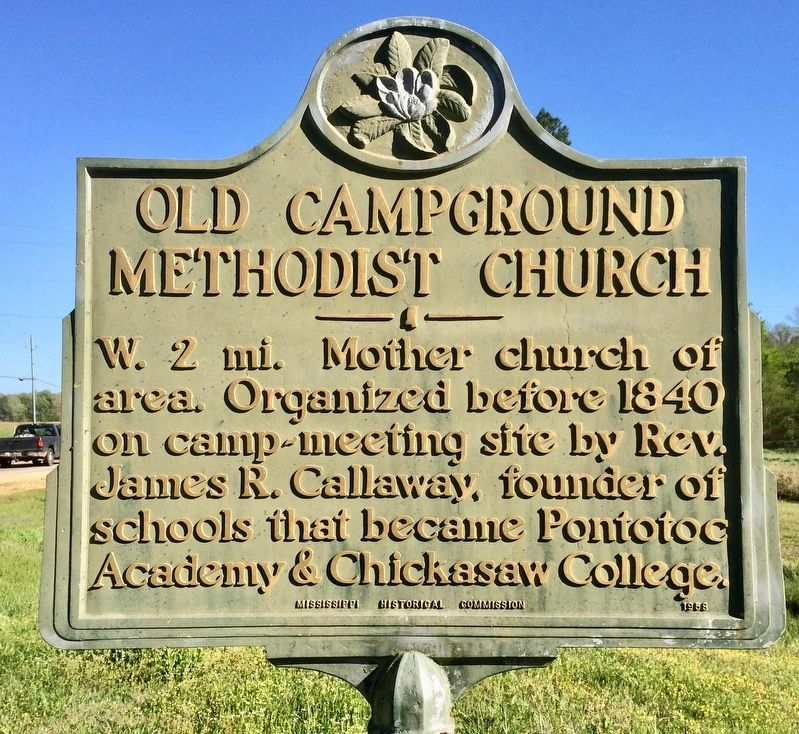 Old Campground Methodist Church Marker image. Click for full size.