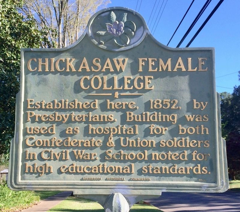 Chickasaw Female College Marker image. Click for full size.