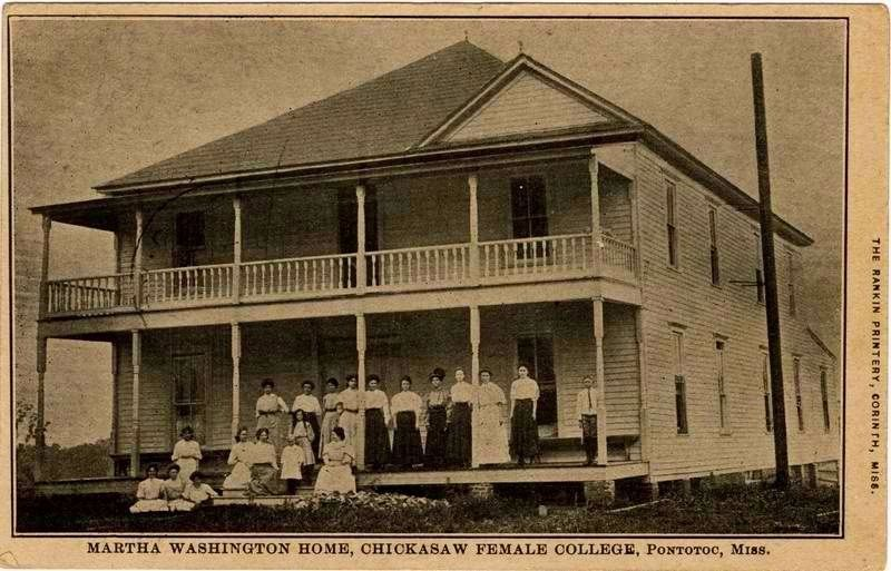 Martha Washington Home (Chickasaw Female College). image. Click for full size.