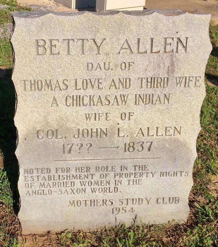 Betty Allen Marker image. Click for full size.