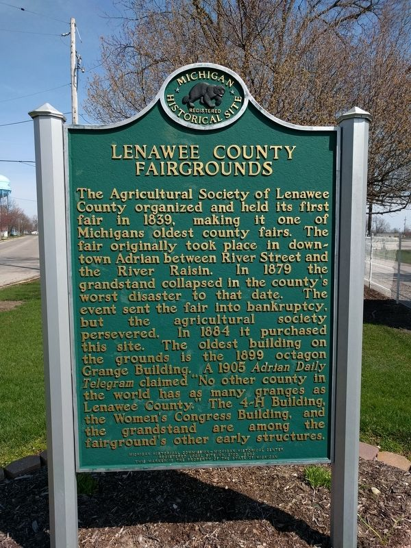 Lenawee County Fairgrounds Marker image. Click for full size.