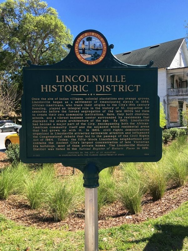 Lincolnville Historic District Marker image. Click for full size.
