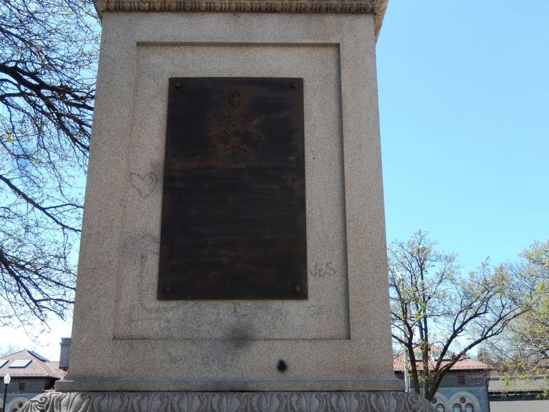 The Maryland Line Monument Marker-Front Panel image. Click for full size.