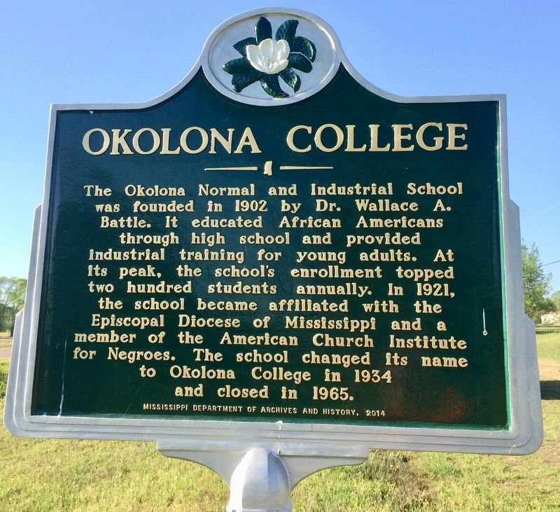Okolona College Marker image. Click for full size.
