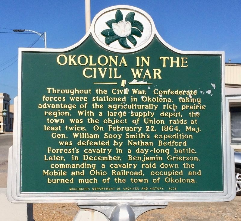 Okolona in the Civil War Marker image. Click for full size.