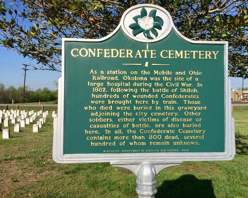 Confederate Cemetery Marker image. Click for full size.