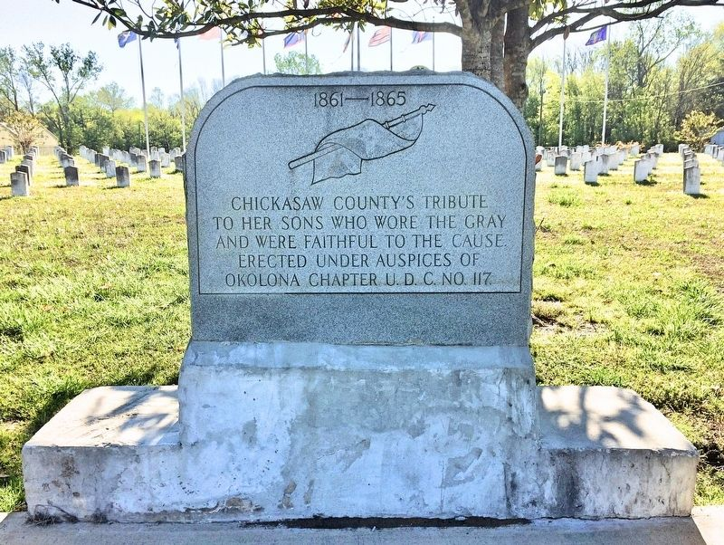 Chickasaw County Confederate Tribute Marker image. Click for full size.