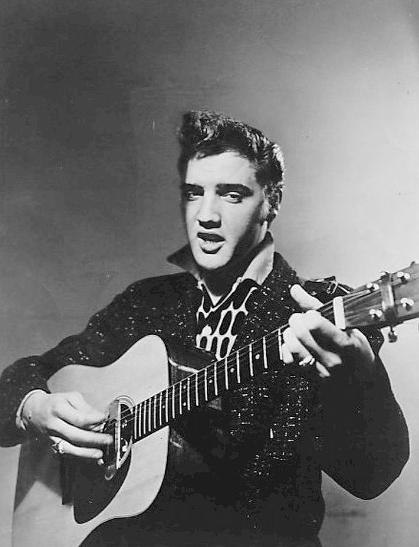 Elvis Aaron Presley publicity photo for the CBS program <i>Stage Show.</i> image. Click for full size.