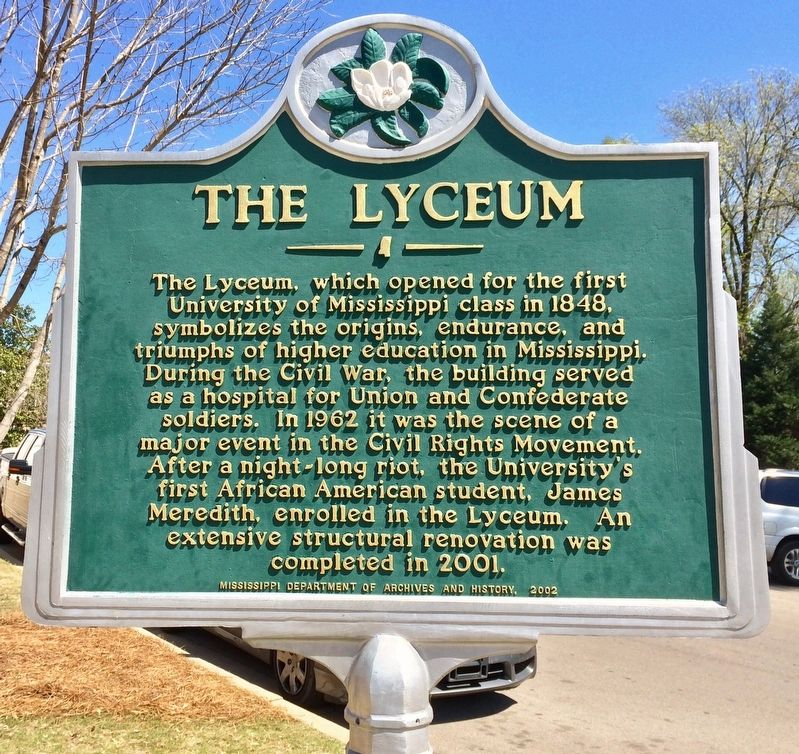 The Lyceum Marker image. Click for full size.