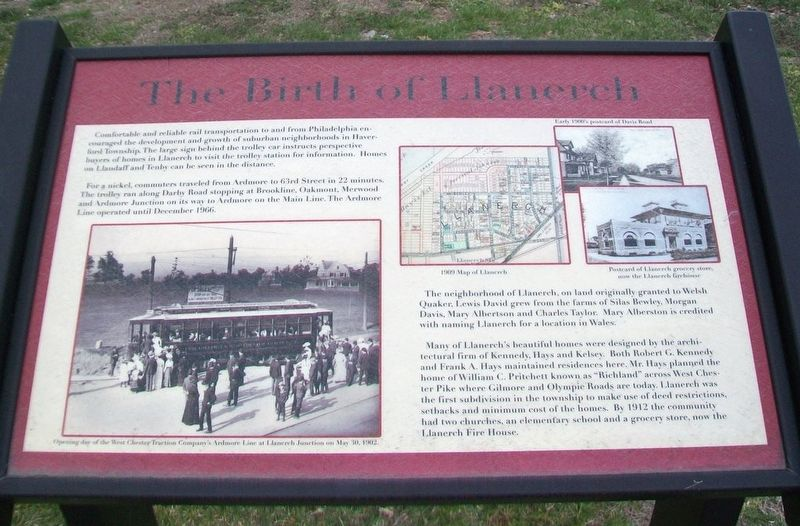 The Birth of Llanerch Marker image. Click for full size.