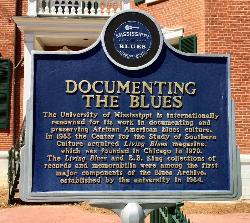 Documenting the Blues Marker (Front) image. Click for full size.