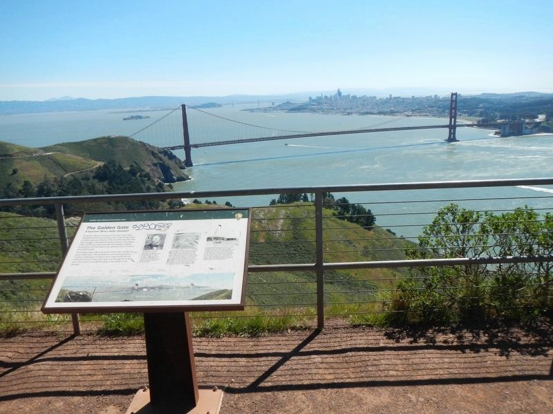 The Golden Gate Marker image. Click for full size.