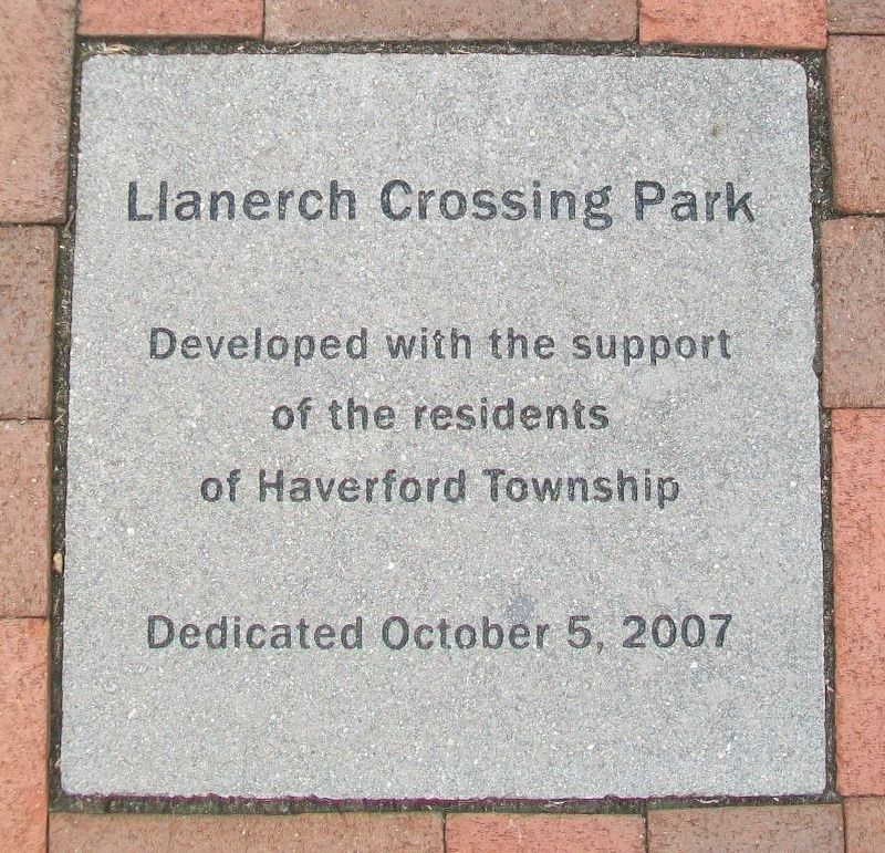 Llanerch Crossing Park Dedication Paver image. Click for full size.