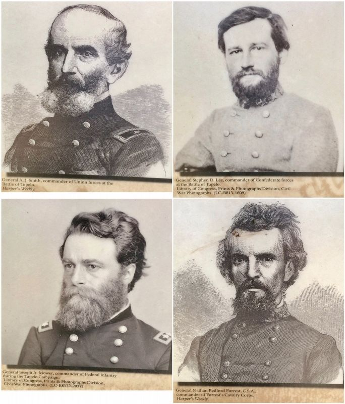 Confederate & Union Generals from the battle. image. Click for full size.