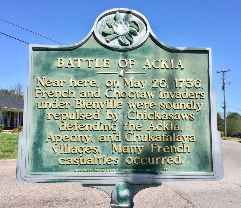 Battle of Ackia Marker image. Click for full size.
