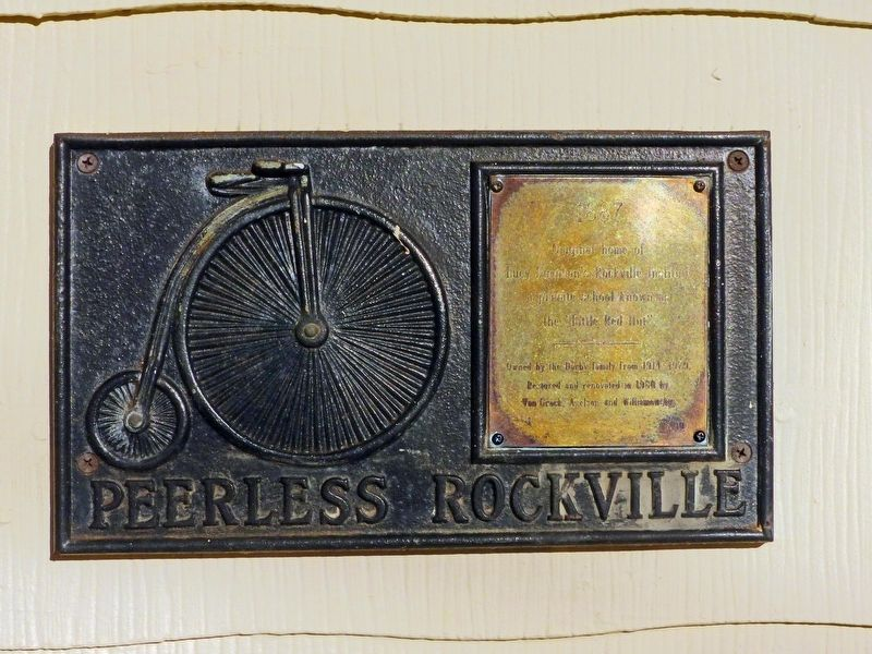 Lucy Simpson's Rockville Institute Marker image. Click for full size.