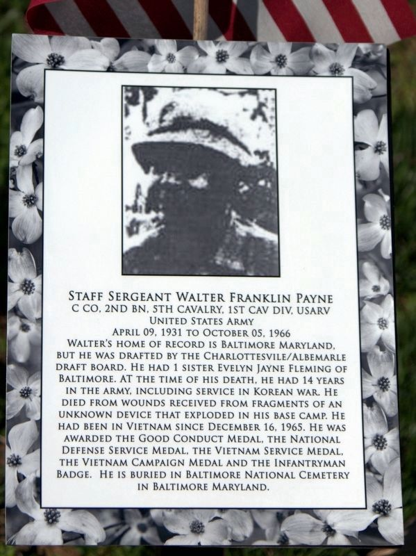Staff Sergeant Walter Franklin Payne image. Click for full size.