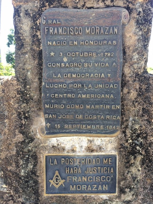 Former Home of General Francisco Morazán Marker image. Click for full size.