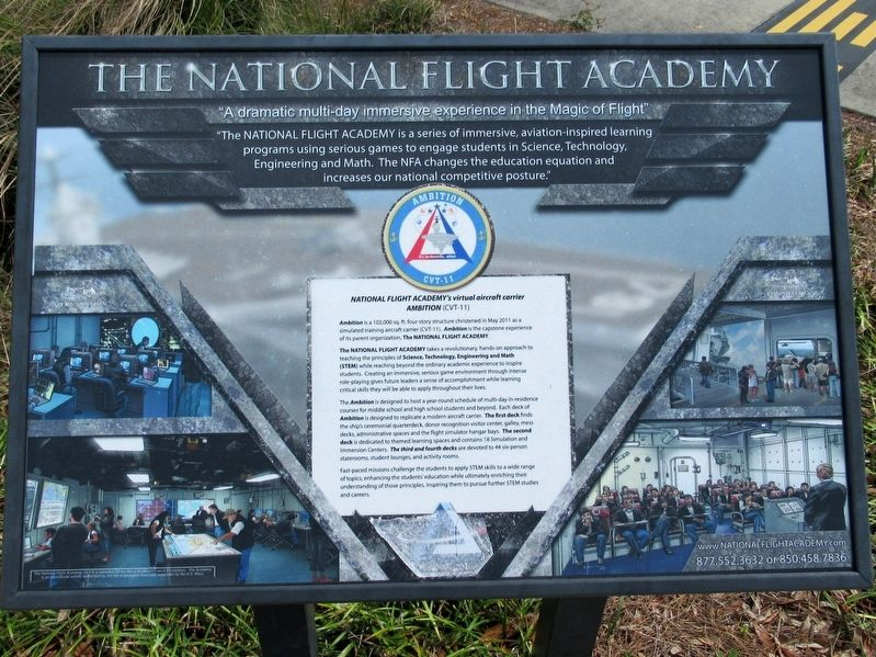 The National Flight Academy Marker image. Click for full size.