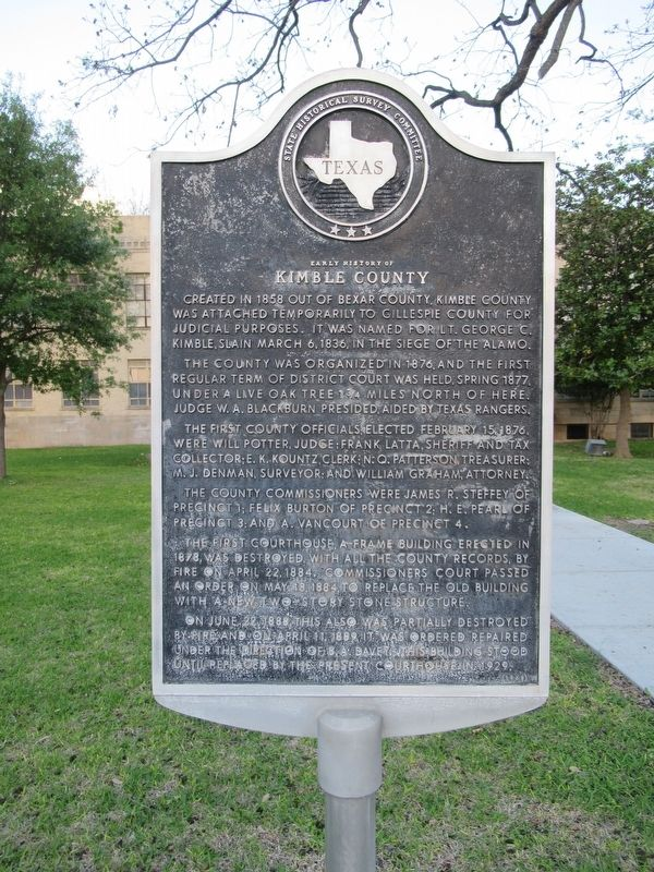 Kimble County Marker image. Click for full size.