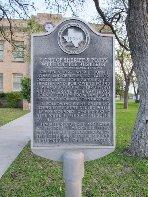 Fight of Sheriff's Posse with Cattle Rustlers Marker image. Click for full size.