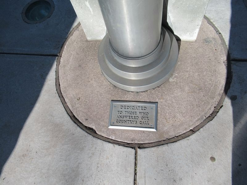 Plaque at Base of Flagpole image. Click for full size.