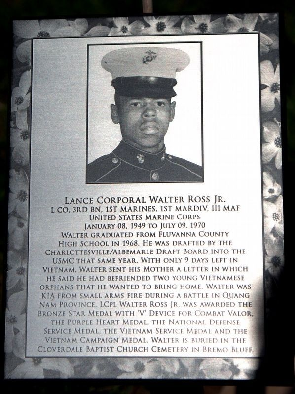 Lance Corporal Walter Ross Jr. image. Click for full size.
