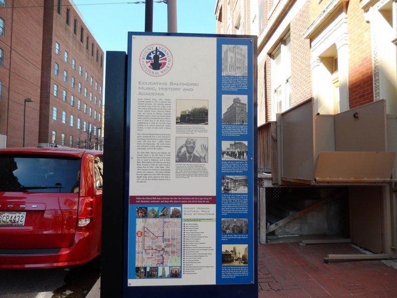Educating Baltimore: Music, History and Academia Marker image. Click for full size.