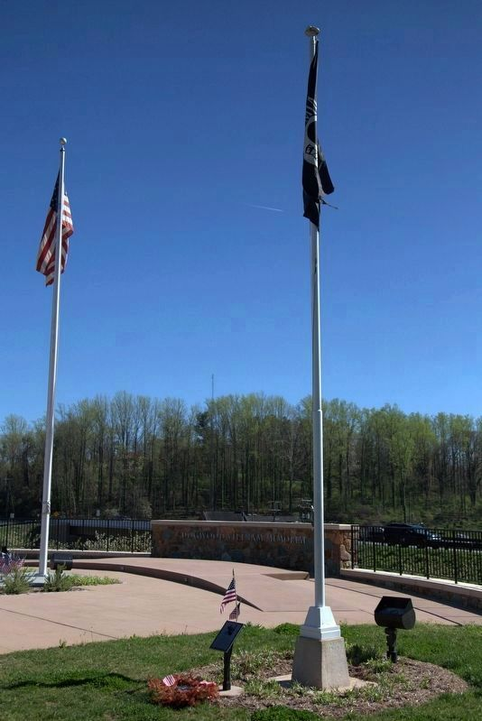 The POW-MIA Flag is Flown on the Right Side of the Memorial image. Click for full size.