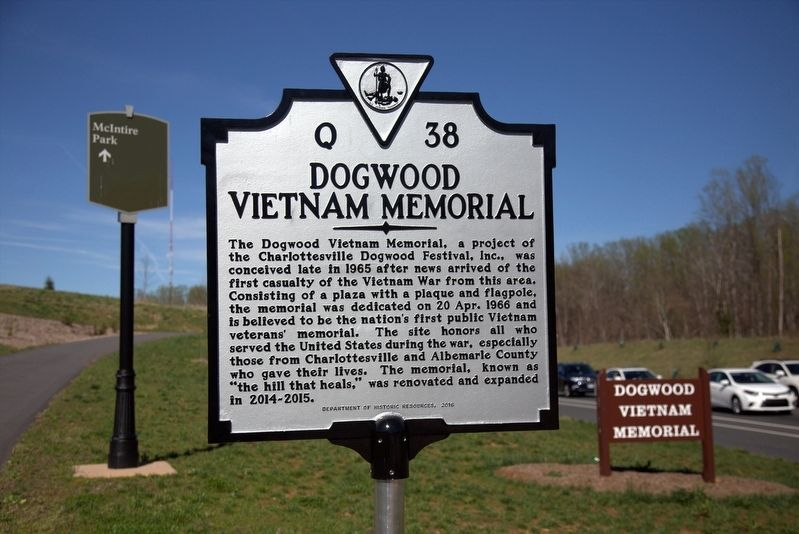 Dogwood Vietnam Memorial Marker image. Click for full size.