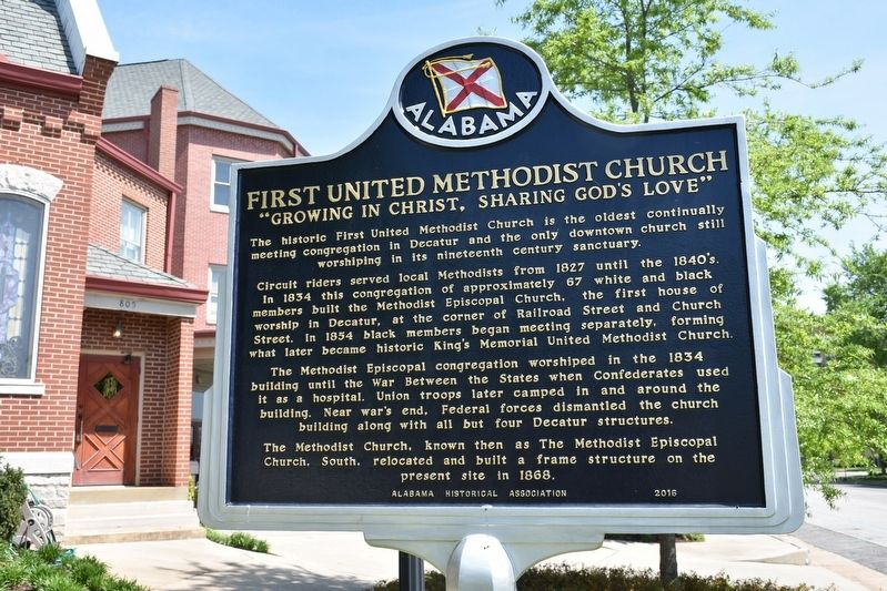 First United Methodist Church Marker side 1 image. Click for full size.