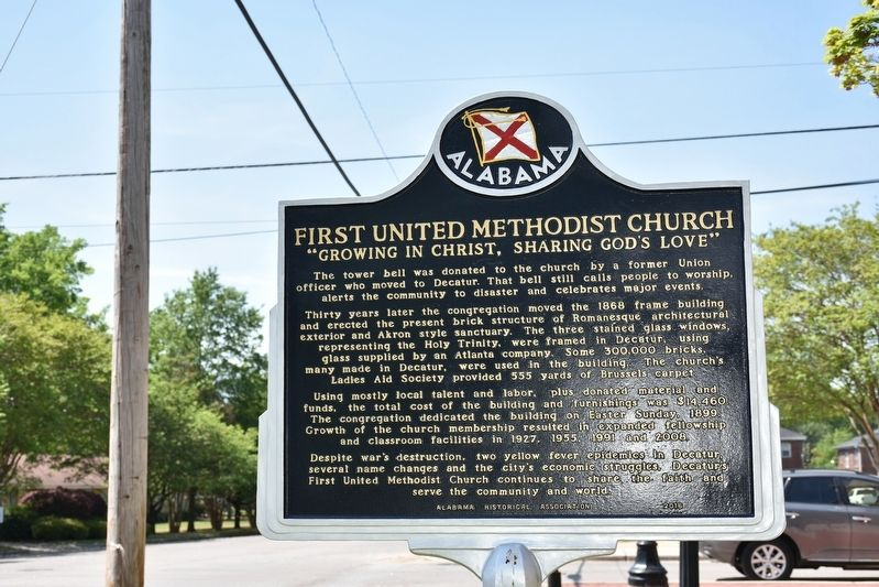 First United Methodist Church Marker Side 2 image. Click for full size.