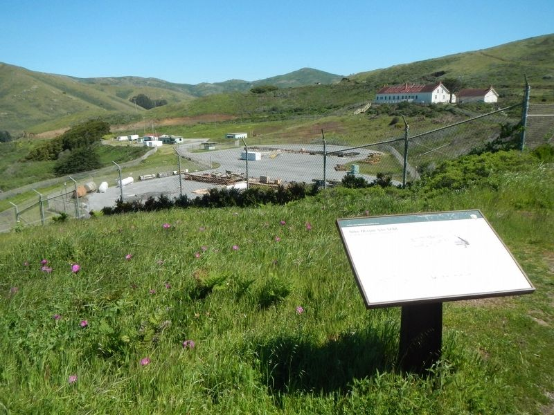 Marker and Nike Missile Site SF88 in the distance image. Click for full size.
