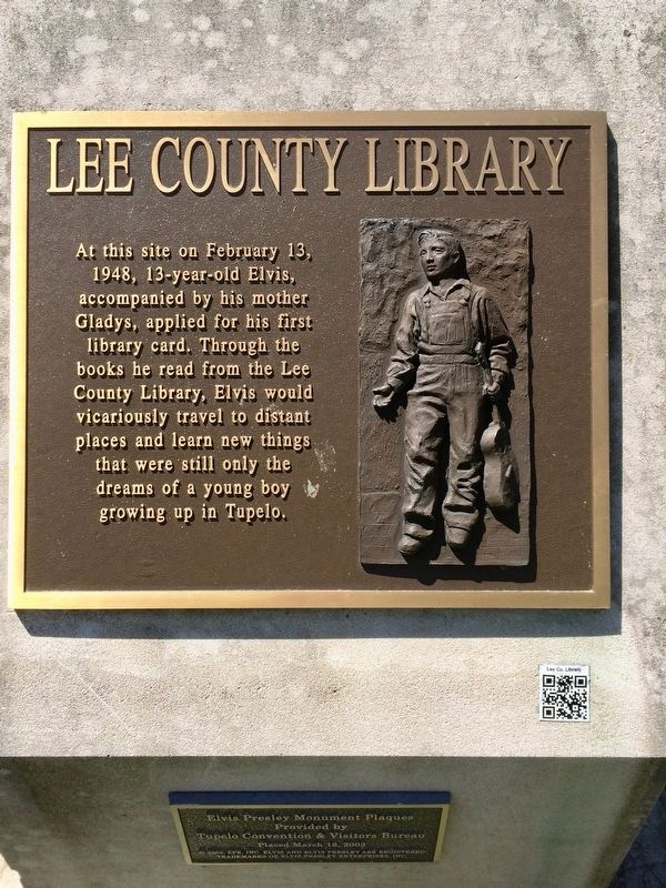 Lee County Library - Elvis Marker image. Click for full size.