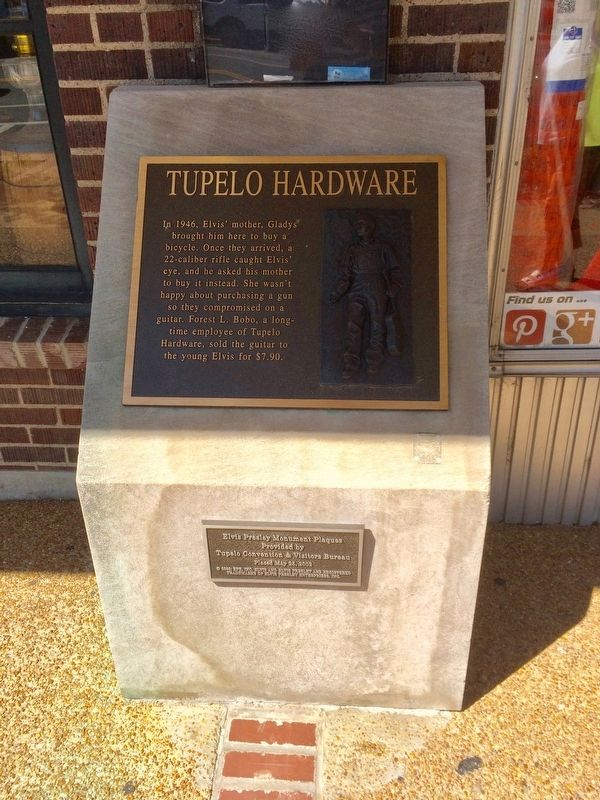 Tupelo Hardware - Elvis Marker image. Click for full size.