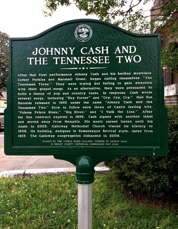 Johnny Cash and Tennessee Two Marker image. Click for full size.