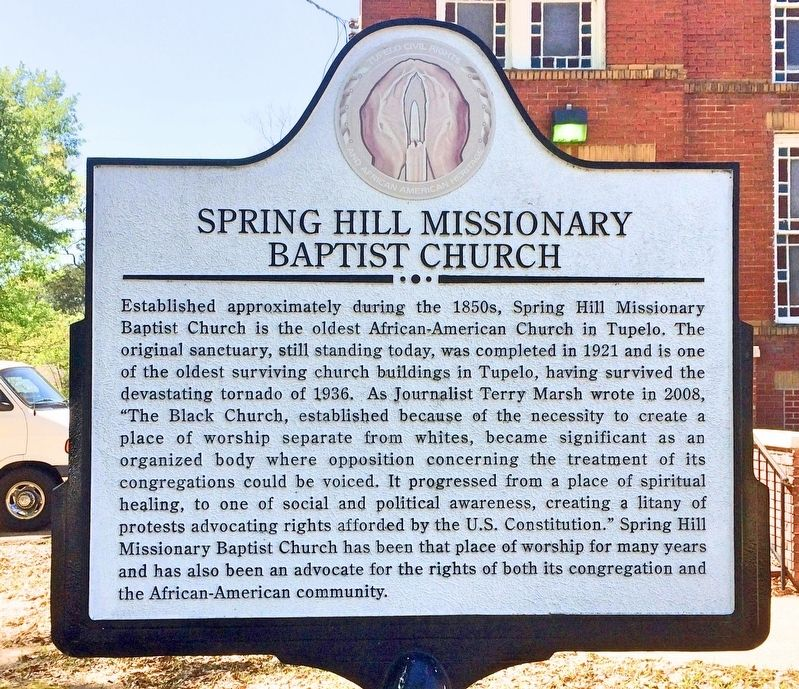 Spring Hill Missionary Baptist Church Marker image. Click for full size.