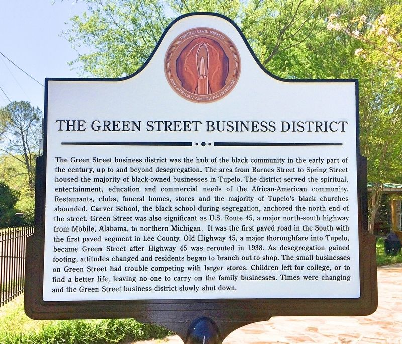 The Green Street Business District Marker image. Click for full size.