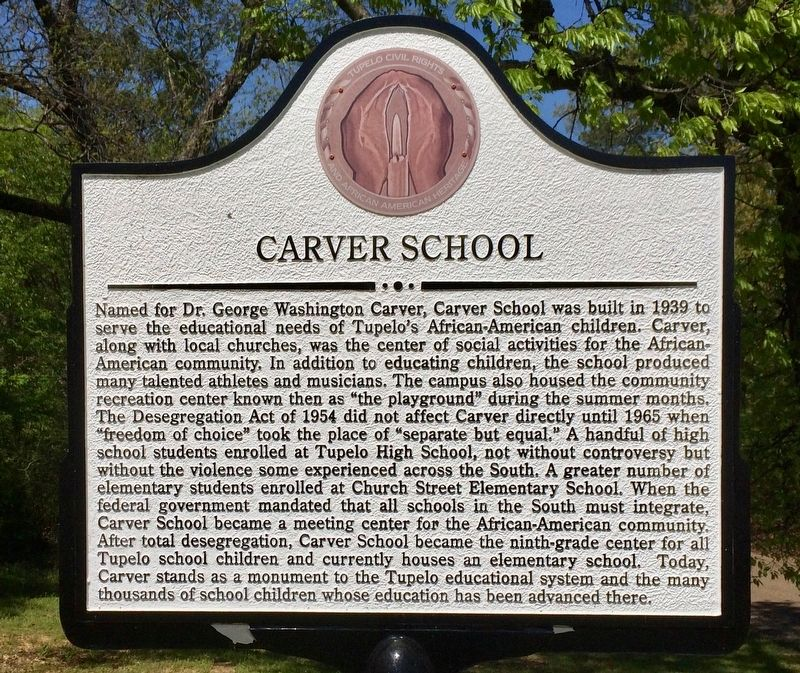 Carver School Marker image. Click for full size.
