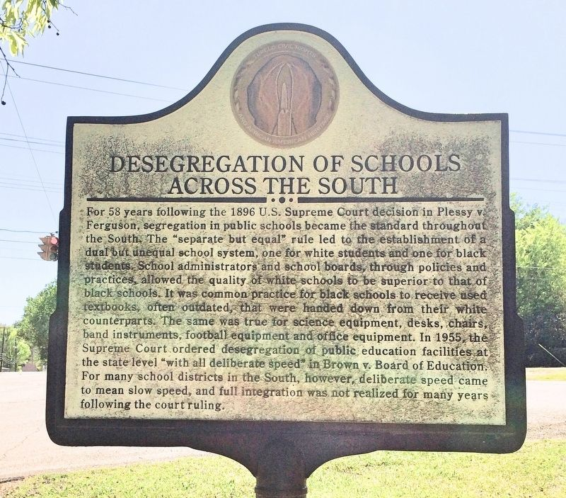 Desegregation of Schools Across the South Marker image. Click for full size.