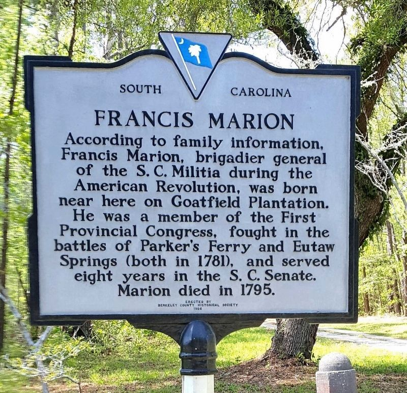 Francis Marion Marker image. Click for full size.