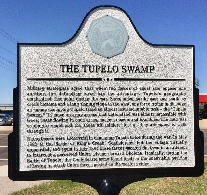 The Tupelo Swamp Marker image. Click for full size.