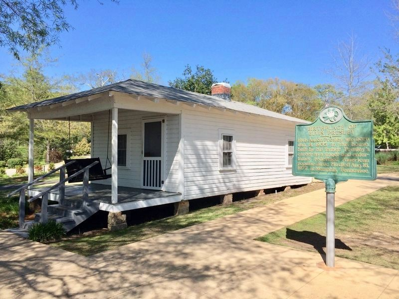 Elvis Presley birthplace - two-room shotgun house, near marker. image. Click for full size.