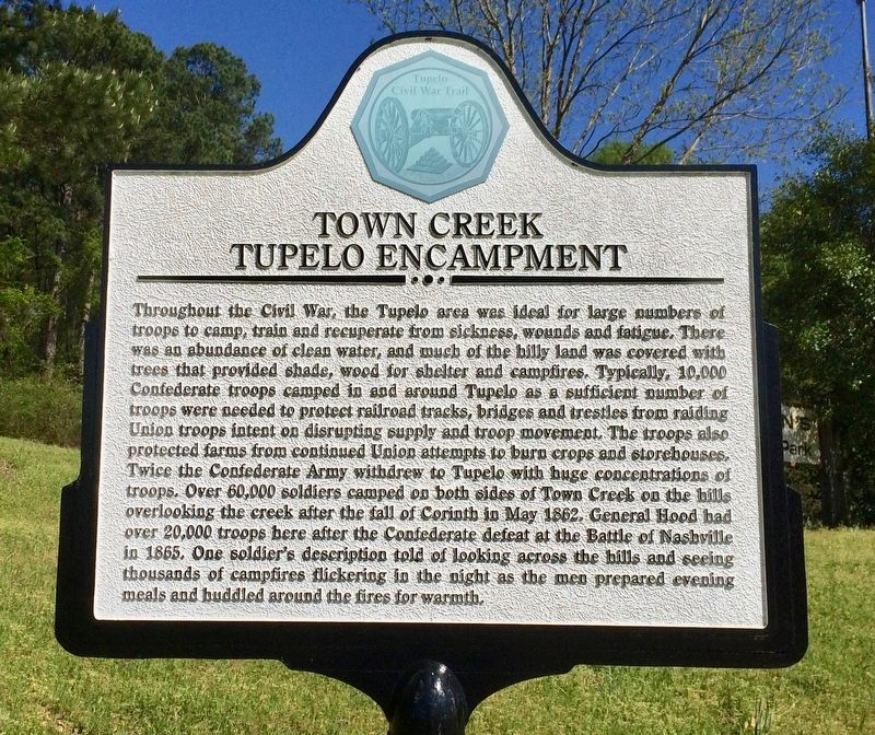 Town Creek Tupelo Encampment Marker image. Click for full size.
