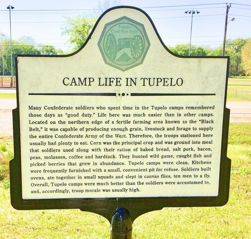 Camp Life in Tupelo Marker image. Click for full size.