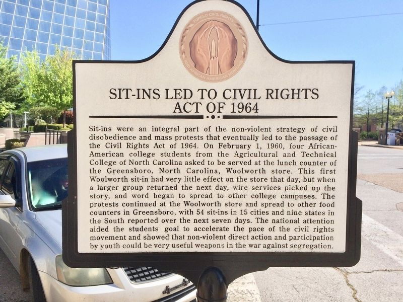Sit-Ins Led to Civil Rights Act of 1964 Marker image. Click for full size.